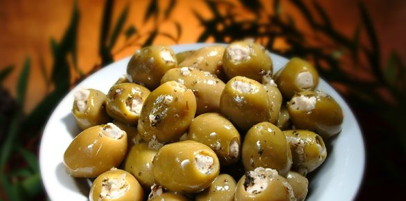 Green Olives Stuffed with Blue Vein Cheese