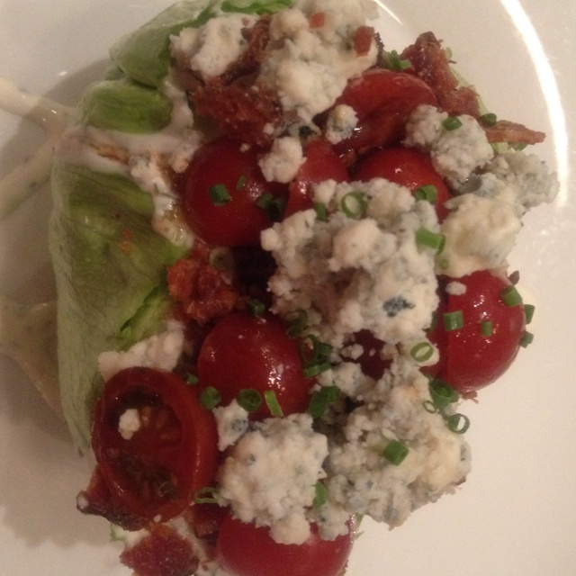 ... in Las Vegas- Bacon, Sweet 100 Tomatoes, Blue Cheese, Ranch Dressing