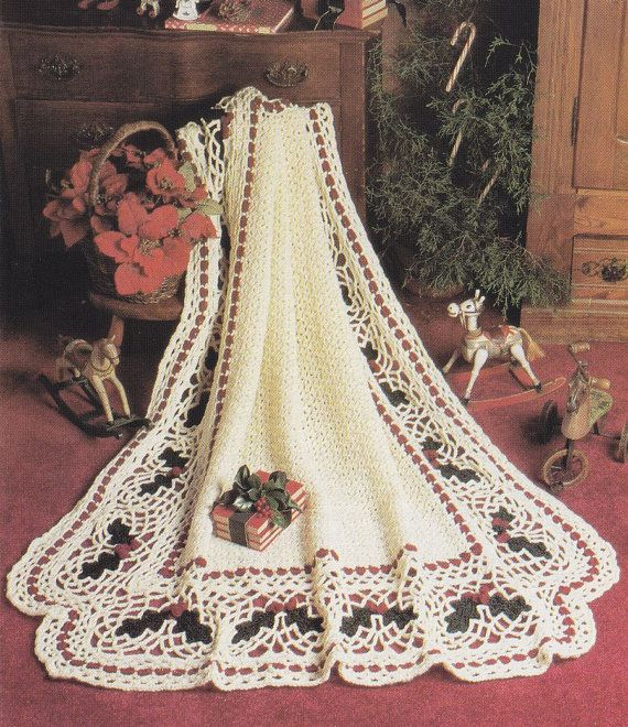 Crochet Afghan Patterns Christmas : Christmas Crochet Patterns - Madonna & Child, Holly ...