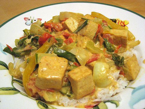 Coconut Curry Tofu   Caribbean vegetarian and vegan food   Pinterest