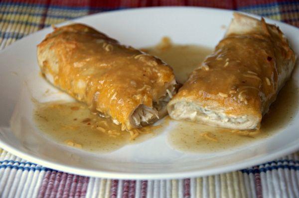 Green Chile Chicken Enchiladas | Freezer Meals | Pinterest