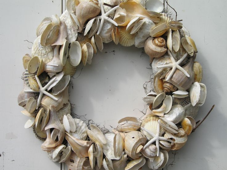 seashell wreath craft ideas pinterest