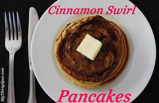 Sunday Brunch: Cinnamon Swirl Pancakes with Cream Cheese Glaze Lizzies ...