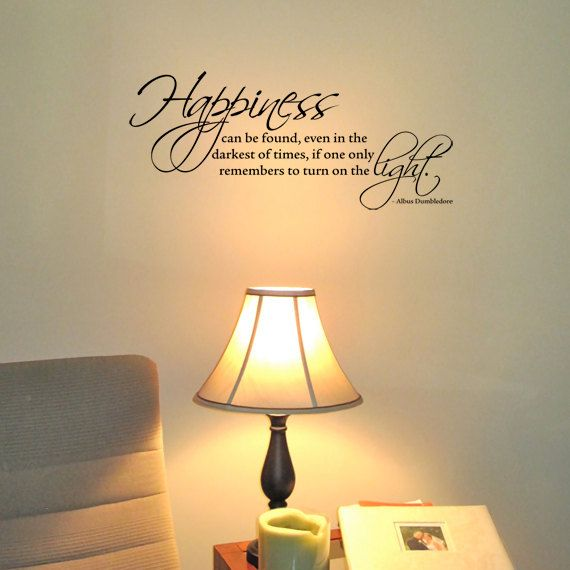 Wall Quotes With Lights : Harry Potter - Happiness can be found... Small Wall Quote