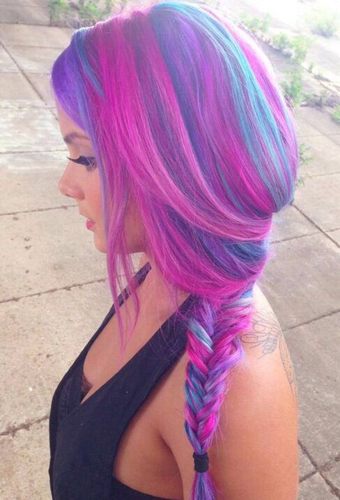 cotton candy pink and blue hair hair pinterest