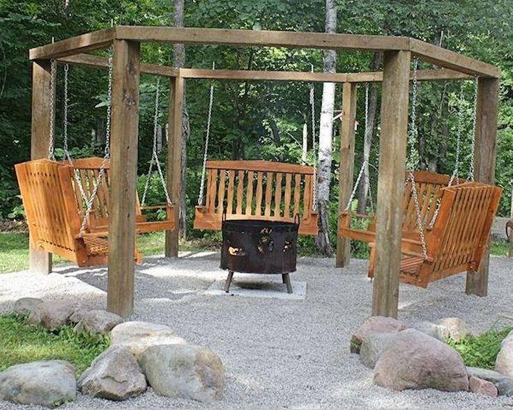 Pallet swing diy fire pit swing set projects pinterest for Pallet fire pit