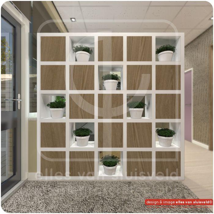 scheidingswand/kast  ontwerp  kantoor woningbouwvereniging keuken en ...