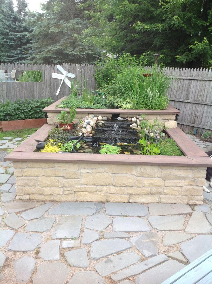 Above ground pond outdoor spaces pinterest for Above ground fish pond
