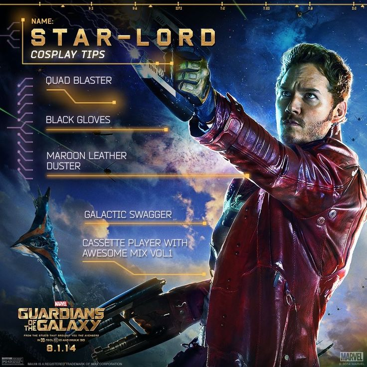 Star lord cosplay tips