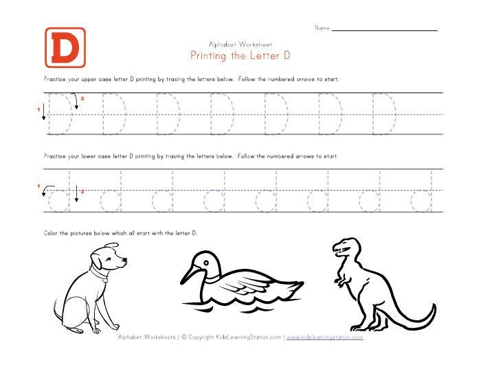 Letter d worksheets pdf