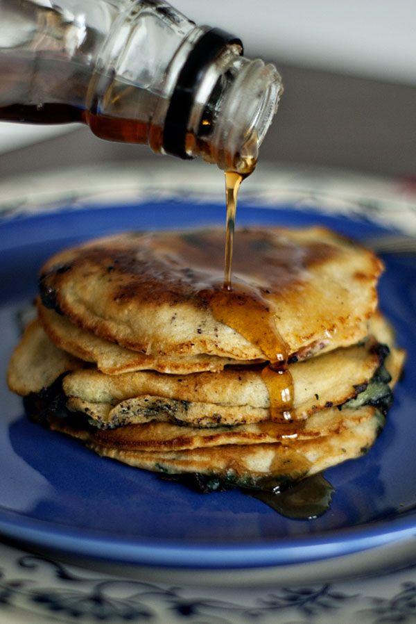 Blueberry-Cornmeal Pancakes | Recipe