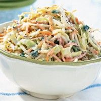 Coleslaw with Apple and Yogurt Dressing - End of Summer side