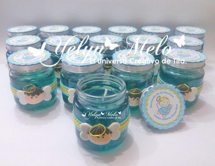 Recordatorios para bautizo con frascos de gerber - Imagui