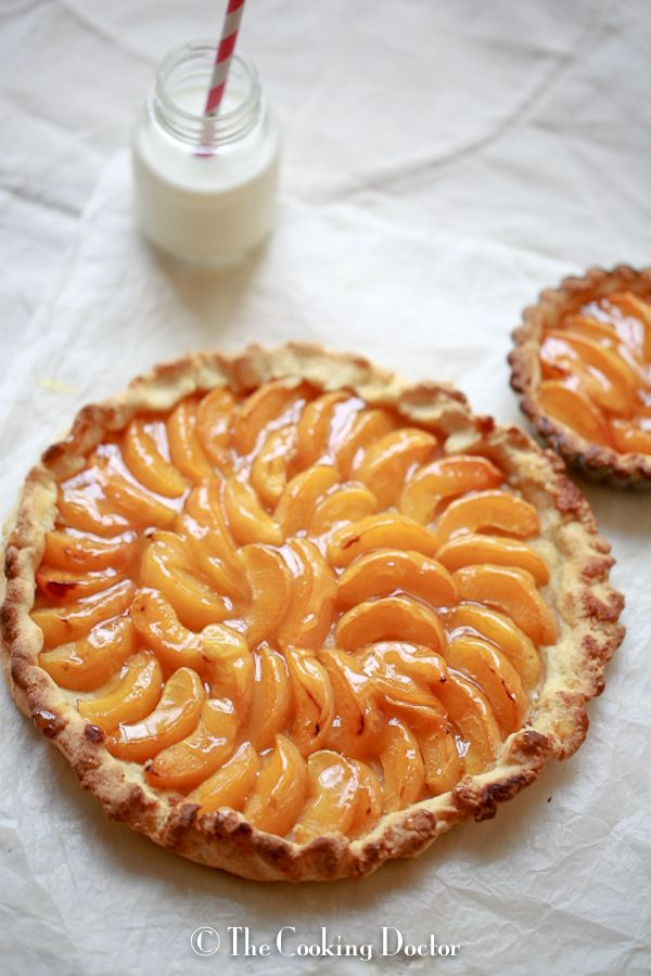 apricot galette with burnt honey butter