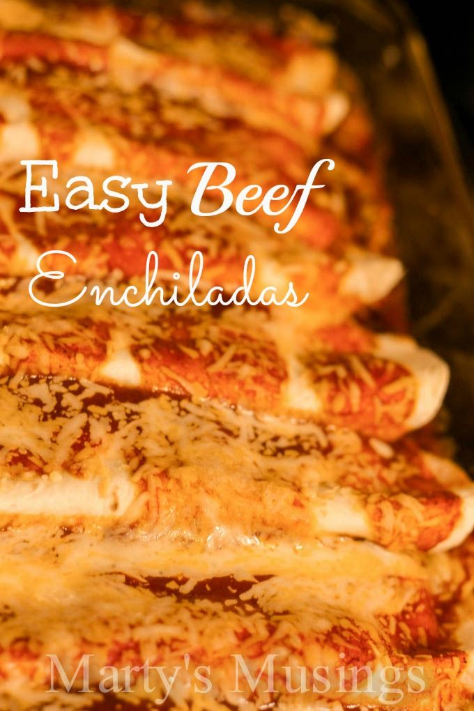 Easy Beef Enchiladas from Marty's Musings - has sour cream inside ...