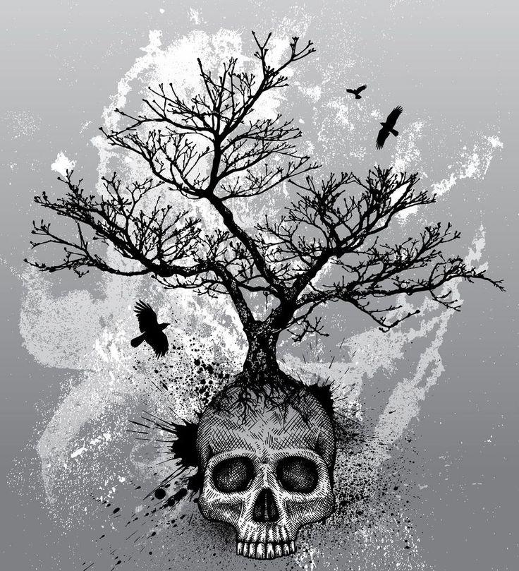 Skull tree tattoo idea skeletons pinterest