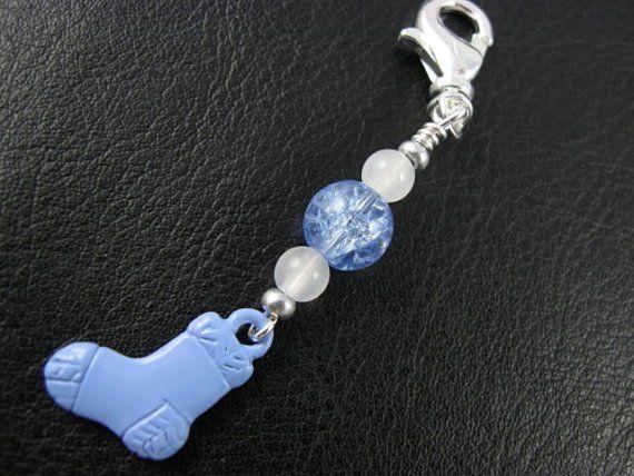 Crochet Zipper Stitch : Stitch Marker - Knitting - Crochet - Blue Sock - Zipper Pull - Phone ...