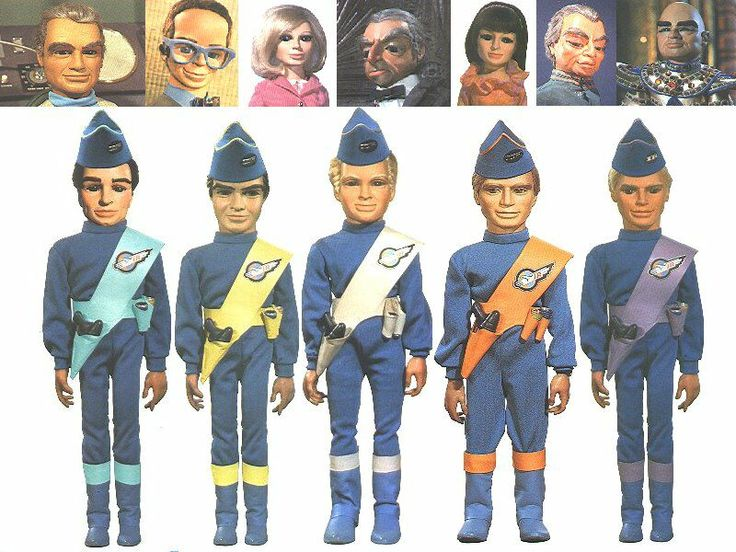Thunderbird 6 Cartoon Characters : Thunderbirds puppets dolls pinterest