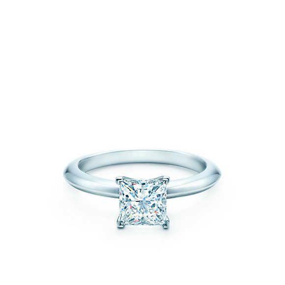 Princess cut Tiffany engagement ring
