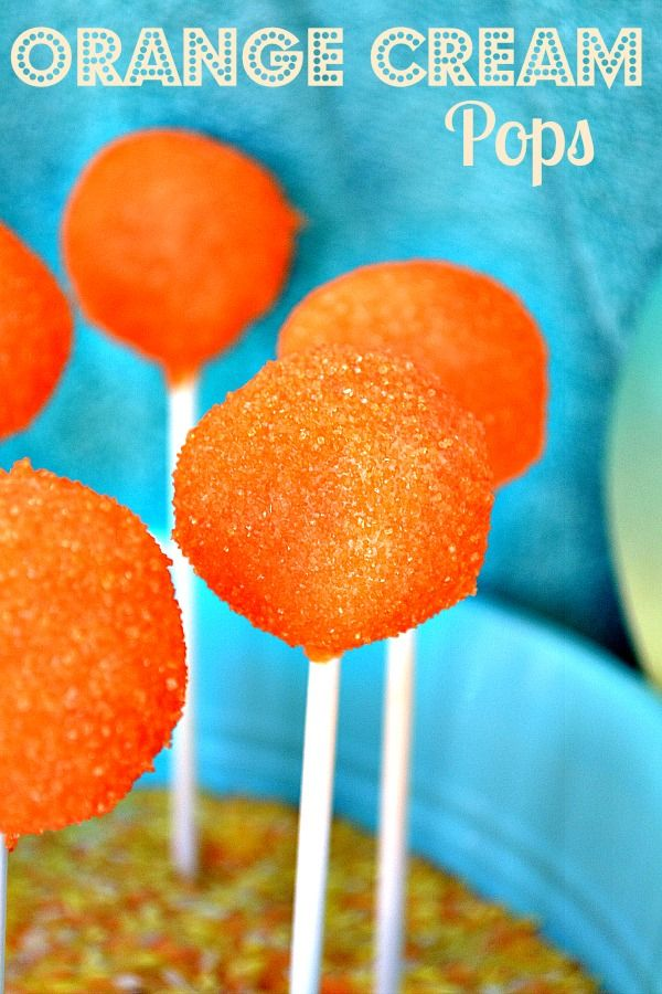 cookie pop outside is orangesicle cake pop dipped in orange creme ...