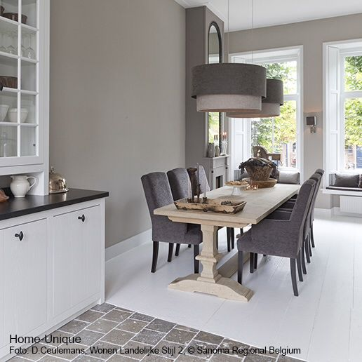 Landelijke Keuken Taupe : Woonkeuken interieur idee?n keukens eetkamer