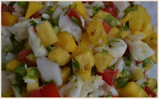 Mmmmm...Kim's Tropical Ceviche | To Eat - Food | Pinterest