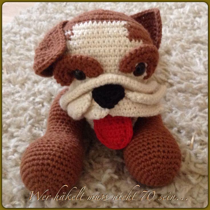 Free Pattern For Crochet Bulldog : Crochet Bulldog Crochet lovely things Pinterest