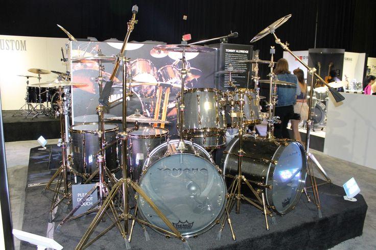 Yamaha Tommy Aldridge Custom Carbon Set #Drums #NAMM # ...