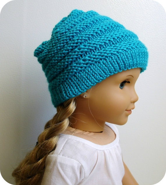 Knitting Pattern For A Dolls Hat : Sophie - PDF Knitting Pattern For 18