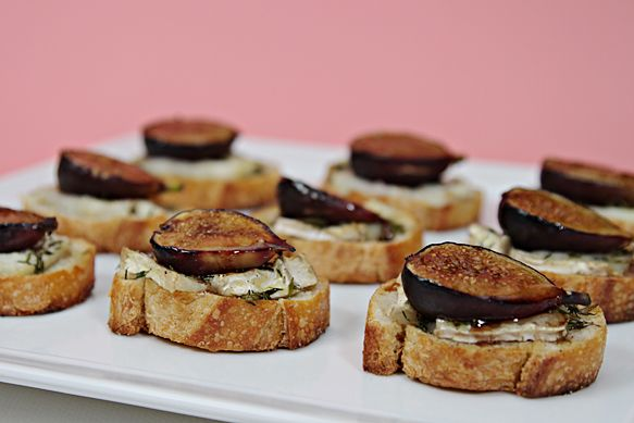 fig crostini   Crostini recipes   Pinterest