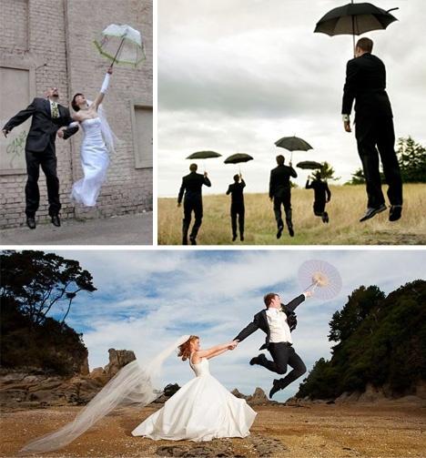 Wedding Photos with Umbrellas