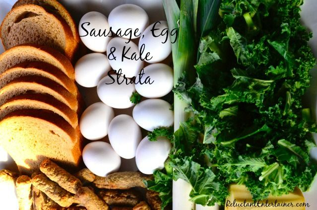 Sausage, Egg & Kale Strata - from @Sandy | Reluctant Entertainer