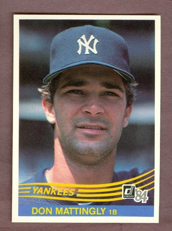 1984 Donruss Don Mattingly Yankees Collectibles Pinterest