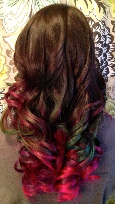 multicolor ombre hair ideas pinterest