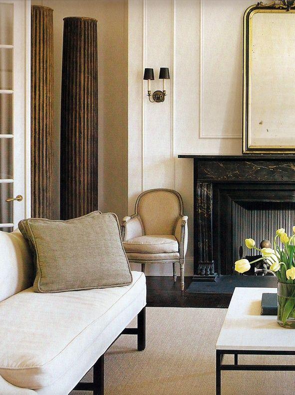 Those columns... Darryl Carter,fireplace