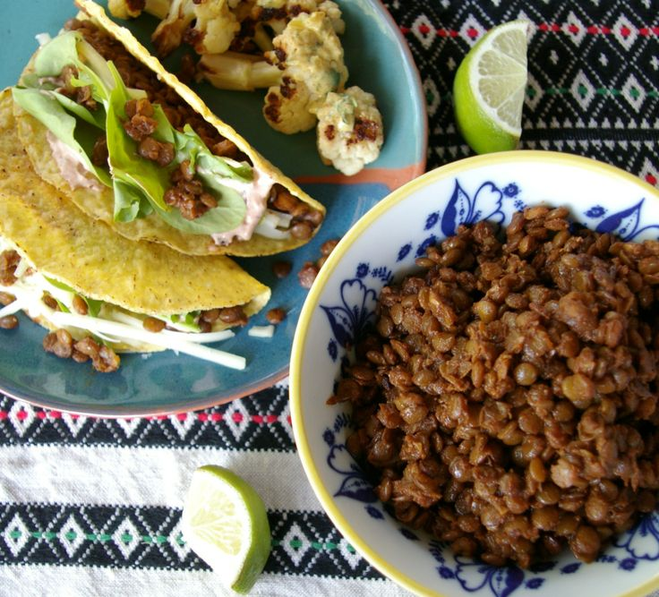 Spiced Lentil Taco - 1 Tbs. olive oil 1 onion, finely chopped 3 cloves ...