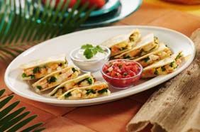 Shrimp Quesadillas - Caribbean lobster and tender shrimp with fresh ...