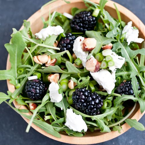 Arugula Salad with Blackberries and Chevre with Blackberry-Thyme Vina ...