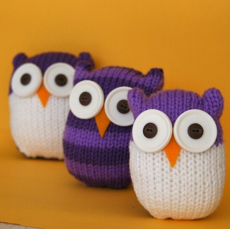Free Knitting Patterns For Head Wraps : Quick and Easy Owl - INSTANT DOWNLOAD PDF Knitting Pattern