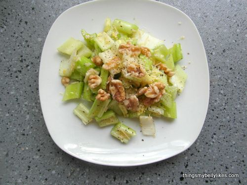 Celery and Parmesan Salad | Salad | Pinterest