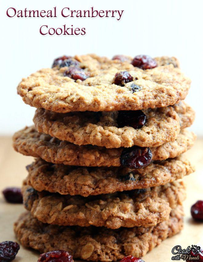 Oatmeal Cranberry Cookies | Food - Cookies : Oatmeal | Pinterest