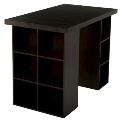 tms counter height craft table espresso. Black Bedroom Furniture Sets. Home Design Ideas
