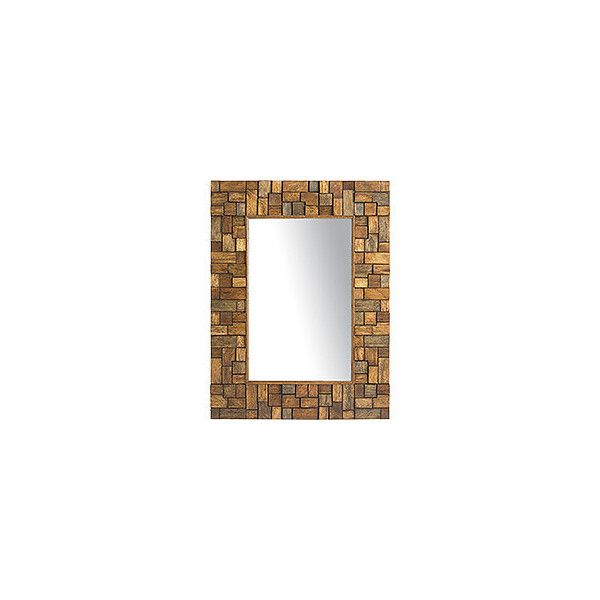pier 1 imports wood collage mirror interesting mirrors