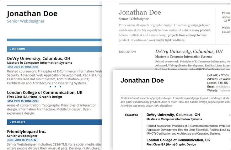 choose a beautiful resume template and save your resume as a pdf