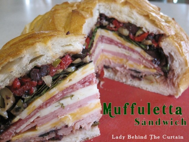 Muffuletta sandwich!! Had these in New Orleans last year and loved it ...