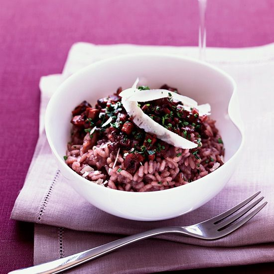 """Red Wine Risotto with Mushroom """"Marmalade"""""""