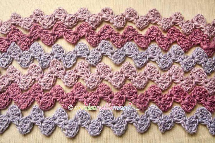 Crochet Tutorial Zigzag : Crochet puntada zigzag Tutorial con fotos paso a paso Teresa ...
