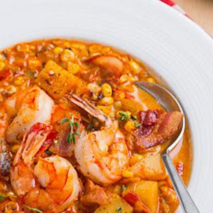 Shrimp and Roasted Corn Chowder Recipe (remove bacon and change to veg ...