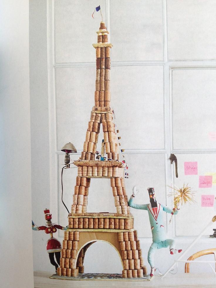 diy cork eiffel tower for my niece pinterest. Black Bedroom Furniture Sets. Home Design Ideas