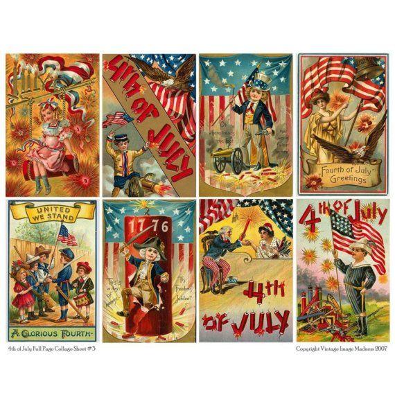 vintage july 4th images
